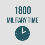 Explanation of 1800 Military Time