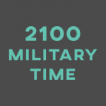 2100 Military Time
