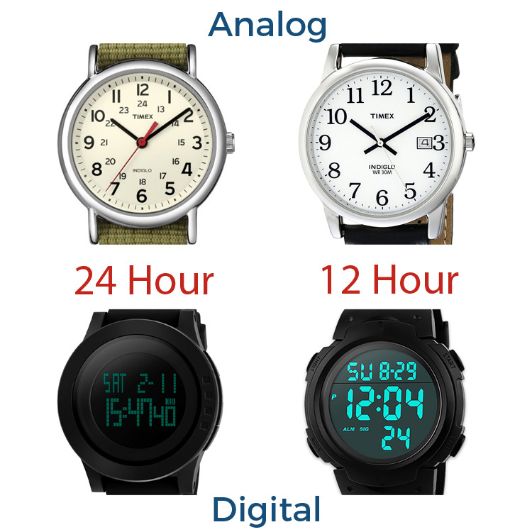 Difference in Standard Watches and Military Time Watches